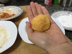 bombas de patata sin gluten