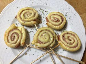 piruletas de jamón y queso sin gluten