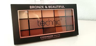 Sombras de ojos bronze & beautiful de technic