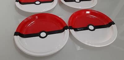 Cumpleaños pokemon platos