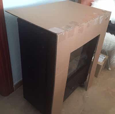 cómo hacer una chimenea de cartón