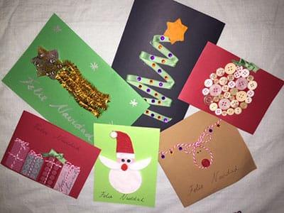 cómo hacer tarjetas de navidad