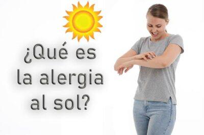Qué es la alergia al sol