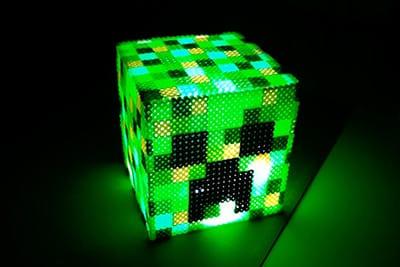 cómo hacer lámpara minecraft