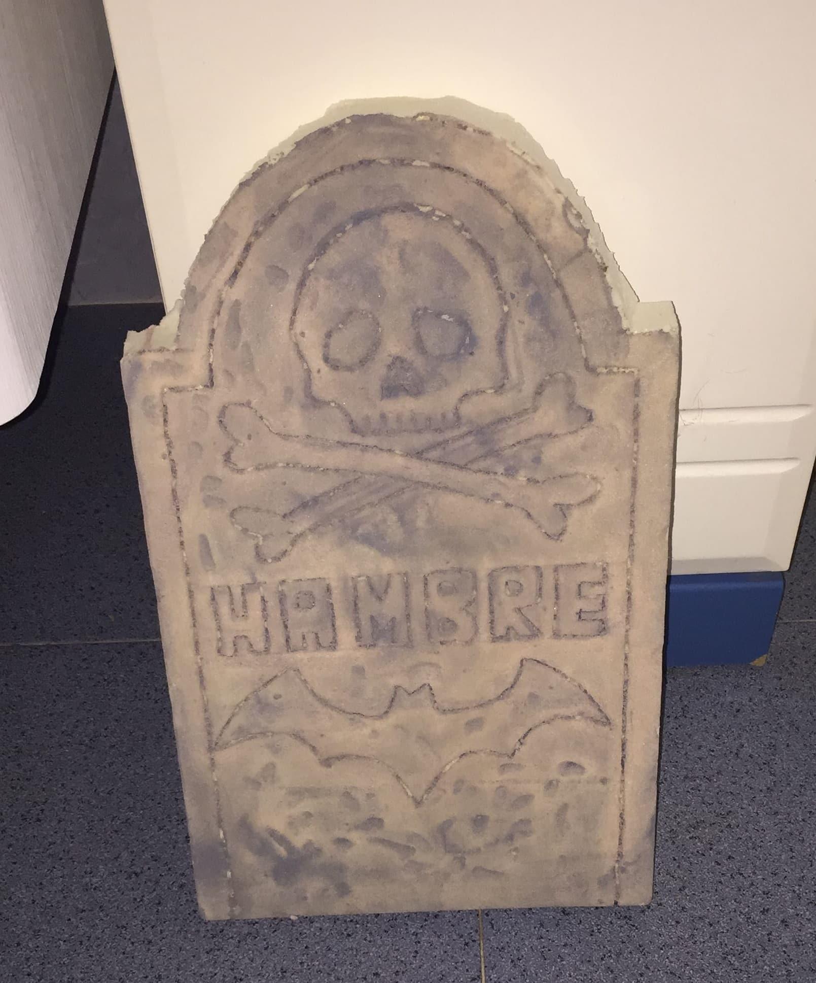 lápidas de halloween terminada